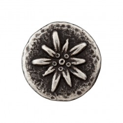 Metallknopf Öse Edelweiss 23 mm - Union Knopf_17714