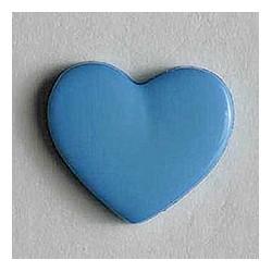 Kinderknopf Herz jeansblau 13 mm  - Dill_17734