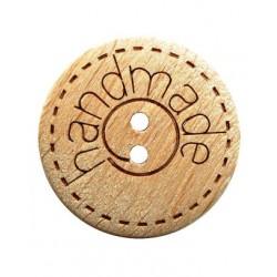 Holzknopf Handmade 15 mm - Dill_18301