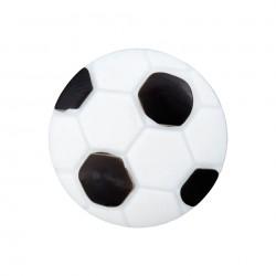Polyesterknopf Fußball  mit Öse 18 mm -  Union Knopf_18823