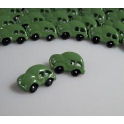 Kinderknopf Auto mit Öse grün, 18 mm_3047