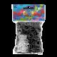 Rainbow Loom Gummibänder, grau_3090