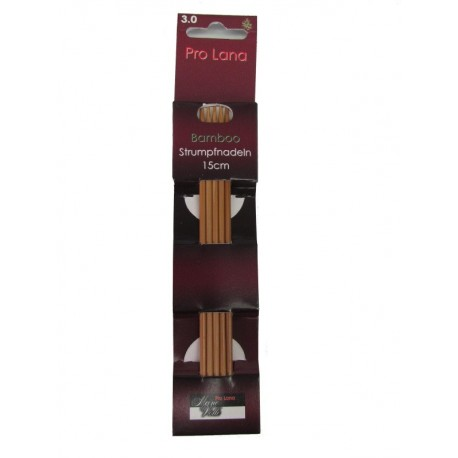 Strumpfstricknadeln - Pro Lana Bamboo 15 cm_4304