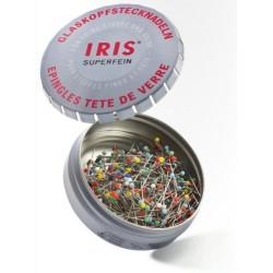 IRIS Glaskopf Stecknadeln