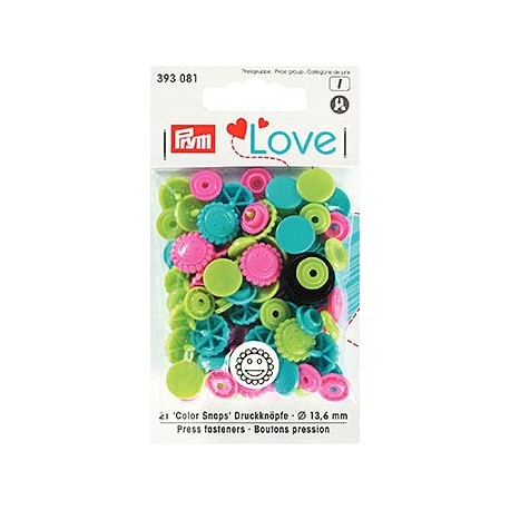 Prym Love Color Blume, pink grün blau_6783