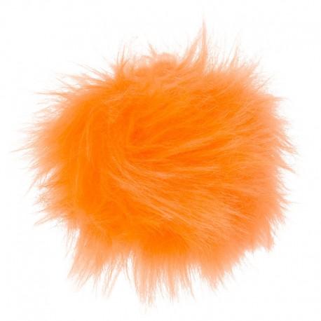 Kunstfell Pompon klein - Schachenmayr, 00025 - neon orange_7287