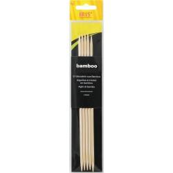Strumpfstricknadeln - IRIS Bambus 15 cm