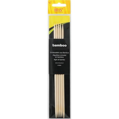 Strumpfstricknadeln - IRIS Bambus 15 cm_7543