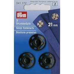 Prym Annäh Druckknöpfe 21 mm schwarz
