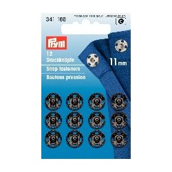 Druckknöpfe 11 mm schwarz - Prym_7817