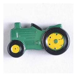 Kinderknopf Traktor grün, 25 mm - Dill