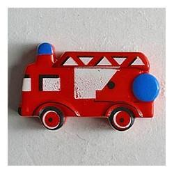 Kinderknopf Feuerwehrauto rot, 23 mm - Dill_7893