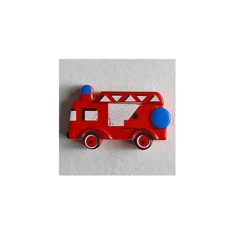 Kinderknopf Feuerwehrauto - Dill (1 Stk.) 23 mm_7893