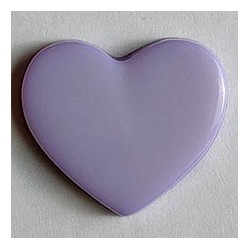 Kinderknopf Herz lila, 13 mm - Dill_7895