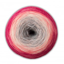 Woolly Hugs - BOBBEL Merino, 102 - grau/rosa/pink/chilli