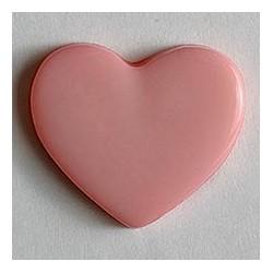 Kinderknopf Herz  - Dill (1 Stk.) 13 mm, rosa