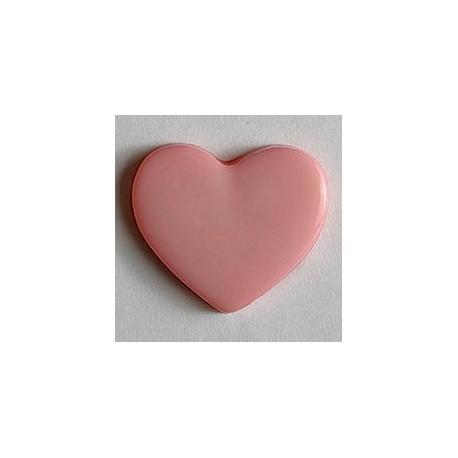 Kinderknopf Herz  - Dill (1 Stk.) 13 mm, rosa_8066