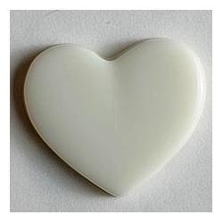 Kinderknopf Herz weiss 13 mm  - Dill_8068