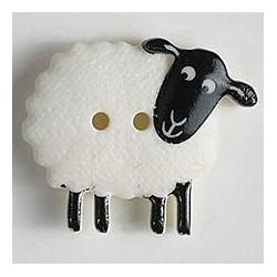 Kinderknopf Schaf, 23 mm - Dill