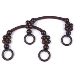 Taschengriff mit Perlen und Ringen