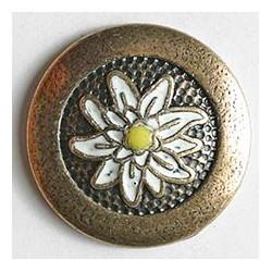 Edelweiss Metall - Dill (1Stk.) 23 mm, altsilber matt gold
