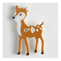 Kinderknopf Bambi, 28 mm - Dill_9153
