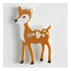 Kinderknopf Bambi - Dill (1 Stk.) 28 mm