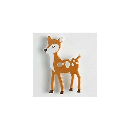 Kinderknopf Bambi - Dill (1 Stk.) 28 mm_9153