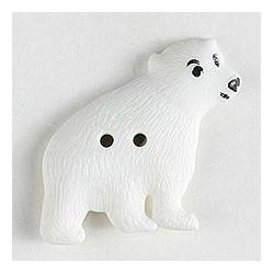 Kinderknopf Eisbär, 32 mm - Dill