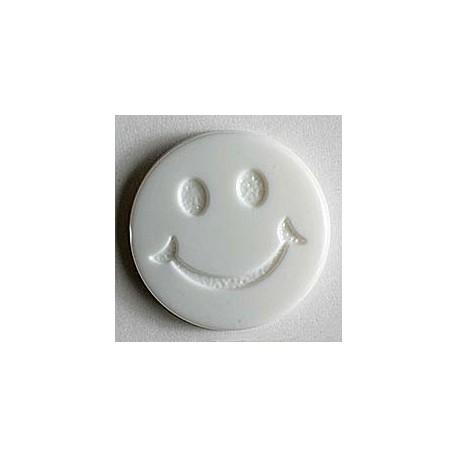 Kinderknopf Smiles  - Dill (1 Stk.) 15 mm, 70 - weiss_9337