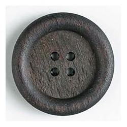 Holzknopf dunkelbraun, 23 mm - Dill