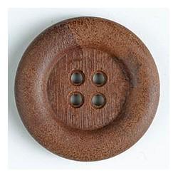 Polyamidknopf Holzoptik braun 23 mm - Dill