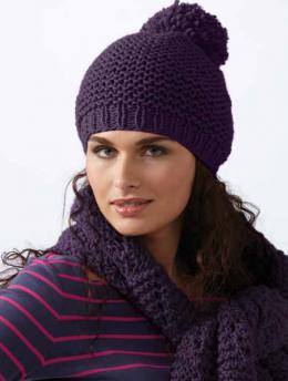 Damenmütze mit Pompon